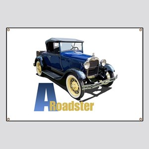 A Blue Roadster Banner