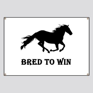 Bred To Win Horse Racing Banner
