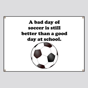 Funny Soccer Quotes Banners - CafePress