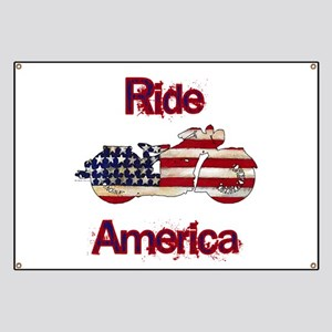 Flag-painted motorcycle-RIDE-1 Banner