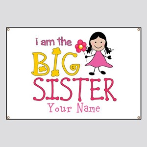 Stick Figure Flower Big Sister Banner