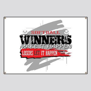 Winners and Losers Softball Banner