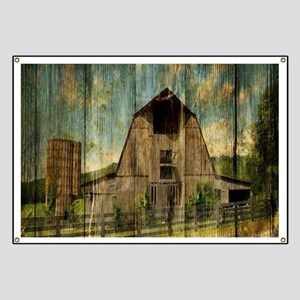 wood grain old barn Banner