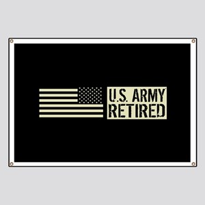U.S. Army: Retired (Black Flag) Banner