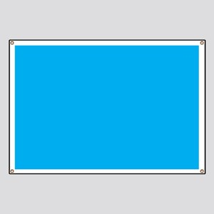 Azure Blue Solid Color Banner