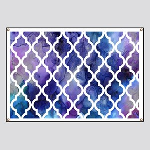 Purple Galaxy Moroccan Pattern Banner