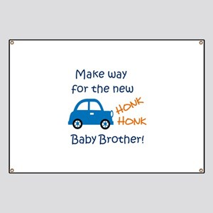 NEW BABY BROTHER Banner