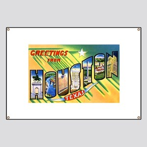 Houston Texas Greetings Banner