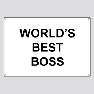 """World's Best Boss"" Banner"