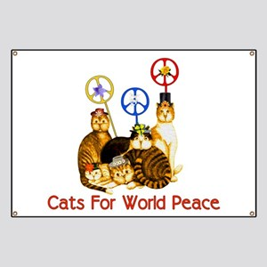 World Peace Cats Banner