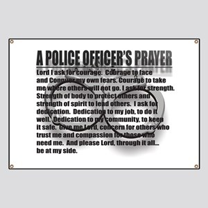 Police Officer Wives Prayer Banners - CafePress