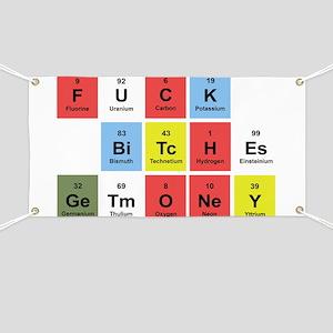 d499d34ea166 Fuck Chemistry Banners - CafePress