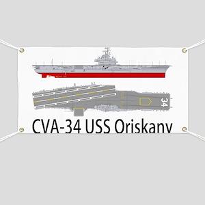 Uss Oriskany Cva 34 Banners - CafePress