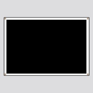 Simply Black Solid Color Banner