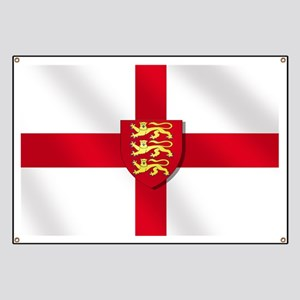 England Three Lions Flag Banner