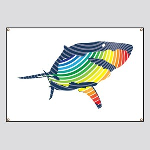 great white rainbow shark Banner