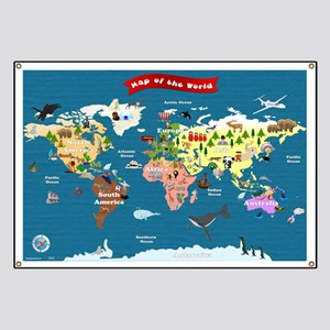 World Map For Kids - Lets Explore Banner