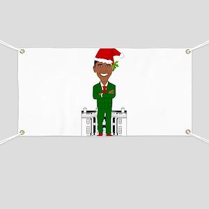 barack obama santa claus Banner