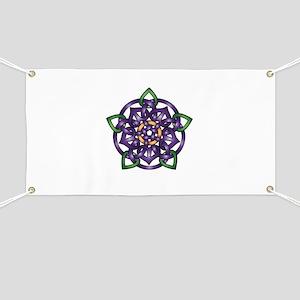 Purple Celtic Rose Banner