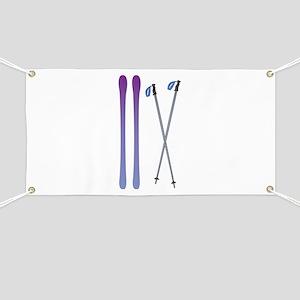 Skis & Poles Banner