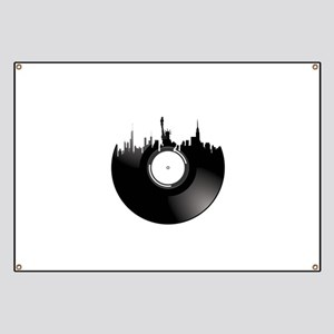 New York City Vinyl Record Banner