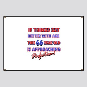 Funny 66th Birthdy designs Banner