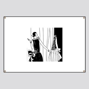 1920s vintage flappers black white drawing Banner