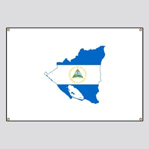 Nicaragua Flag and Map Banner