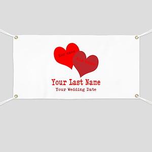 Wedding Hearts Banner