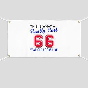 Really Cool 66 Birthday Designs Banner