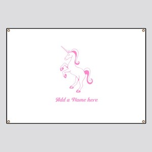 Personalisable Pink Unicorn Banner