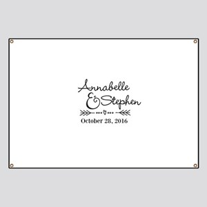 Couples Names Wedding Personalized Banner