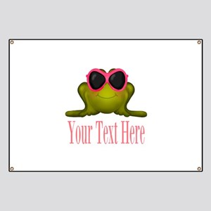 Frog in Pink Sunglasses Custom Banner