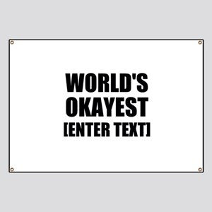 World's Okayest Personalize It! Banner