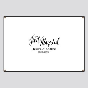 Just Married custom wedding Banner