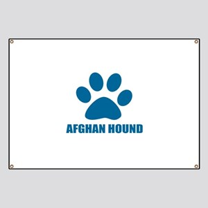Afghan Hound Dog Designs Banner