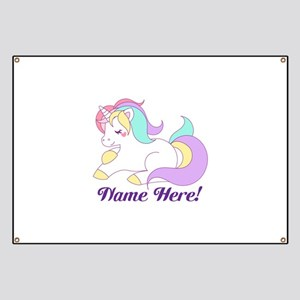 Personalized Custom Name Unicorn Girls Banner