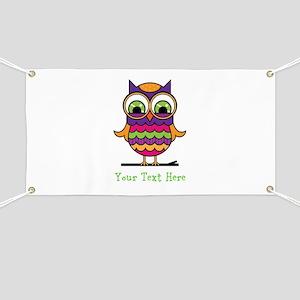 Customizable Whimsical Owl Banner