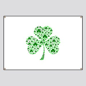 Irish Shamrocks Banner