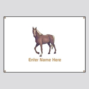 Personalized Horse Banner