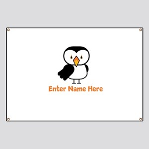 Personalized Puffin Banner