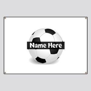 Personalized Soccer Ball Banner