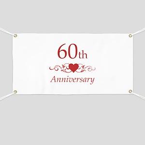 60th Wedding Anniversary Banner