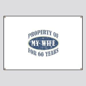 Funny 60th Anniversary Banner