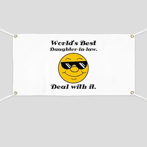 World's Best Daughter-In-Law Humor Banner