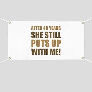 40th Anniversary Humor For Men Banner