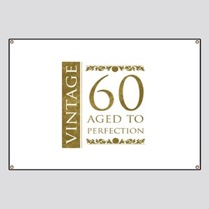 Fancy Vintage 60th Birthday Banner