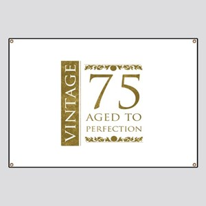 Fancy Vintage 75th Birthday Banner