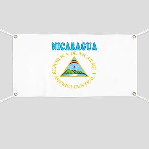 Nicaragua Coat Of Arms Designs Banner