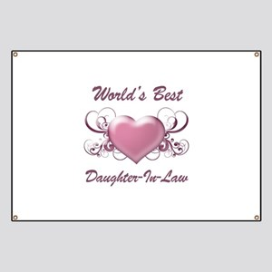 World's Best Daughter-In-Law (Heart) Banner